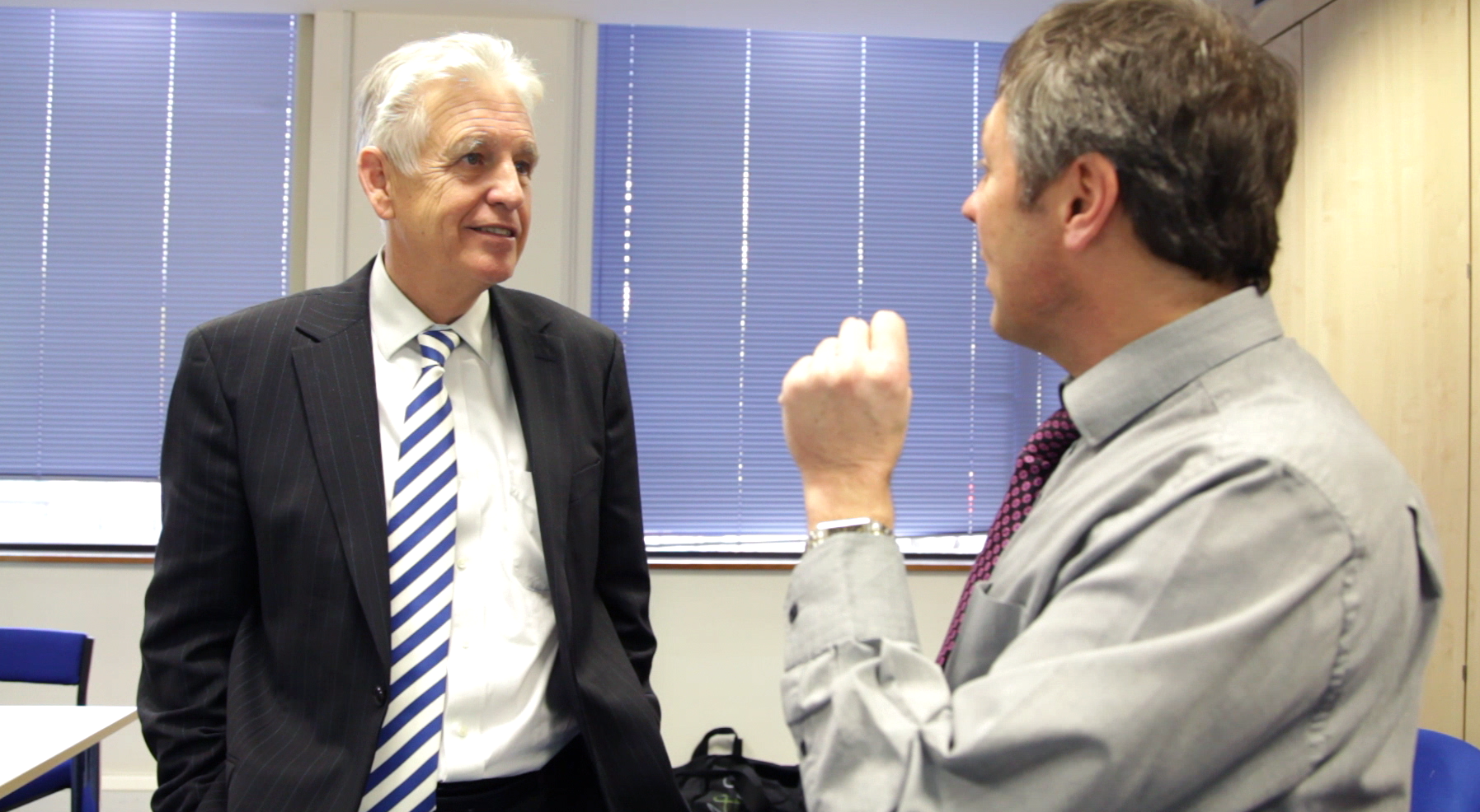 Paul Durrant (MD RPD) having a chat with Nicholas Owen on the days activities